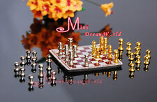Free Shipping Dollhouse Miniature 1:12 Toy A Set Of Metal Chess Set