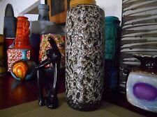 Scheurich 1960s fat lava vase, vintage West German mid century Eames era pottery