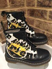 Dr Martens Rare Logo Boots 1460 Black Uk Size 7 EU41 USL9