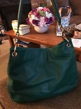 Cuore Pelle Green Leather Extra Large Satchel Bag