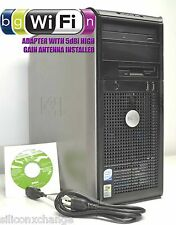 2TB QUAD CORE WIRELESS DELL 745 4GB RAM DVDRW WIFI Q6600 XP-3 PRO 32BIT TOWER PC