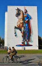 "Mural Lg Photos of Germany ""The Melting Superman"" Signed #'d by Jost Houk"
