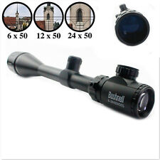 Bushnell Banner Crosshair 6-24x50mm Illuminated Rifle Scope +Free 20mm Mounts