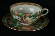 Excellent Antique Chinese Famille Rose Tea Cup / Saucer  [Y8-W7-A9-E8]