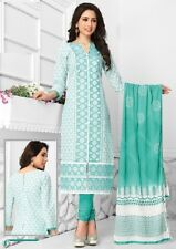 Radiant Cotton Embroidered Salwar Suit Dress Material With Chiffon D.NO PO3009