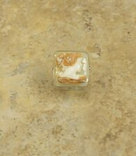ITALY CAMEO BY M+M SCOGNAMIGLIO 20MM CORNELIAN TRIPLE CARVED RING SIZE 7 HSN