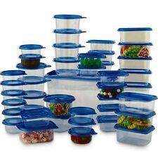 88-Piece Plastic Food Storage Container Set ~ BPA-Free Microwave Safe Meal Prep