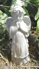 Latex small child angel mold plaster cement casting garden mould