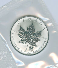2004 PRIVY GEMINI 1 OZ PURE SILVER MAPLE LEAF COIN WITH COA ONLY 5000 STRUCK!