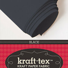 "KRAFT-TEX ROLL, BLACK, 19"" X 54"" Washable, Sewable, Leather-Like, Heavy Paper"