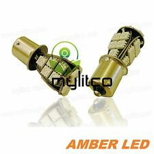 Upgrade Car LED Signal Indicator Light Bulbs 581 PY21W Amber Orange SMD Canbus