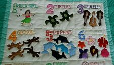 Hawaiian style Numbers quilt baby crib blanket hand quilted wall hanging