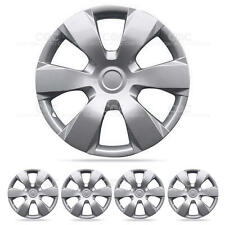 4 Piece Set of 16 inch Silver Hub Caps Full lug Skin Cover for OEM Steel Wheel