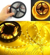 Amber Super Bright 5M SMD 3528 NoWaterproof 300LEDs Led Flexible Strip Light 12V