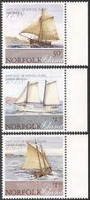 Norfolk Is 2008 Ships/Boats/Sailing/Sail/Heritage/Transport 3v set (n27701)