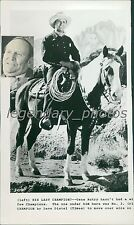 Gene Autry on His Horse Champion Original News Service Photo