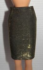 BOTTOM ~ MIKELMAN RETRO CANDI DOLL GOLD ACCENT SKIRT ACCESSORY CLOTHING