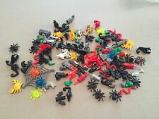 HUGE Lot of 100 LEGO Animals Spiders Snakes Cat Crabs Minifig lot F293
