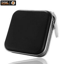 40 CD DVD Carry Case Disc Storage Holder CD Sleeve Wallet Ideal for In Car BLACK