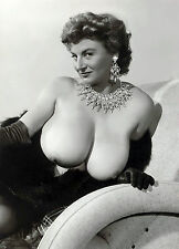1960s Pinup Nude Cherrie Knight DDD Breasts Draped in Diamond 8 x 10 Photograph