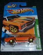 2012 HOT WHEELS '70 CHEVY CHEVELLE CONVERTIBLE 15/15 TREASURE HUNTS