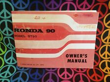 Honda ST90 Owners Manual