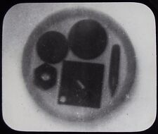 Glass Magic Lantern Slide SHADOWGRAM OR XRAY OF ITEMS UNKNOWN C1890 PHOTO