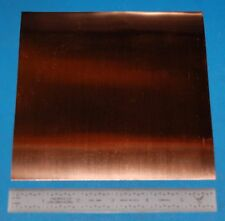 "Copper Sheet / Foil, .002"" (.05mm), 6x6"""