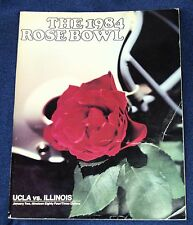 THE 1984 ROSE BOWL UCLA vs ILLINOIS Program