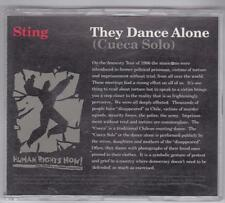 Sting They Dance Alone (Cueca Solo) CD A&M 17613 Single PROMO Human Rights Now