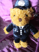 "KEEL TOYS POLICEMAN TEDDY BEAR  SOFT TOY 9"" THE SOUVENIR RANGE WITH TAG"