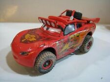 New Disney Pixar Cars NO.95 Lightning McQueen With Plating muddy Toy Car Loose