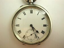 Antique Early 1900s Hallmarked Silver IWC PEERLESS Pocket Watch & Leather Fob