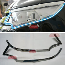 New ABS Chrome Trim Front Light Cover For Ford Edge 2011-2014