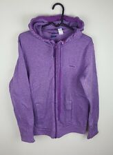 WOMENS VTG PURPLE REEBOK ZIP-UP ATHLETIC SPORTS TRACKSUIT TOP JACKET VGC UK L