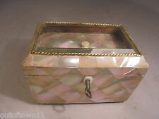 Antique Rare Mother of Pearl Tea Caddy Box  ,  ref A1/ixy882