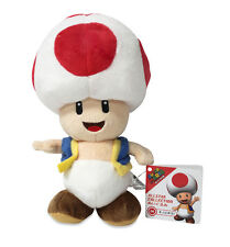 "Authentic 7.5"" Toad Stuffed Plush Sanei Super Mario All Star Series"