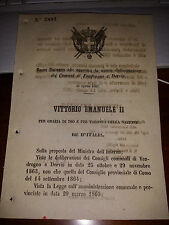 REGIO DECRETO 1867 approva nuova delimitazione comuni VENDROGNO e DERVIO