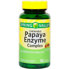 Spring Valley: Papaya Enzyme Digestive Health Dietary Supplement, 180 Ct