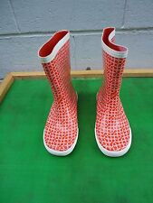 Coach Ursula Red &White  Waterproof Rain Boots Women SZ#  8 B