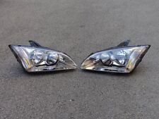 1Pair Front Headlights Head Lamps For Ford Focus 2005-2007