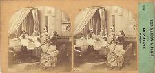 Une maison à Paris Bourgeois Furne et Tournier Stéréo Vintage albumine ca 1857