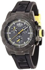 Invicta Mens Pro Diver Ocean Baron Swiss Chronograph SS Black & Yellow Watch NEW