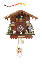 Pendulum clock Heidi with rotating Dancers, Made in Germany, Black  forest, Gift