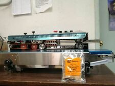 DINGYE FRD-1000S STAINLESS STEELCONTINUOUS BAND SEALER&INK CODER MACHINE 110V