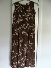 Viscose crinkle dress in autumn shades size 12 C&A