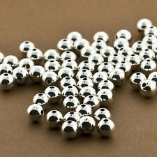 25pc,.925 Sterling Silver 6mm Round Beads.Seamless, Polished, Spacers, Medium Ba