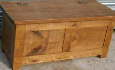 (any size made) SOLID WOOD CHUNKY RUSTIC PLANK PINE BEDDING BLANKET TOY BOX SEAT