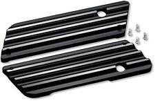 Covingtons Saddlebag Latch Covers Finned - Black C1001-B*