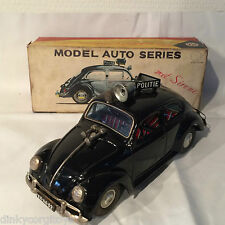 BANDAI JAPAN TINPLATE BLECH VW VOLKSWAGEN BEETLE KAFER POLITIE DUTCH NM BOXED